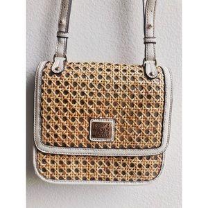 Anne Klein crossbody wicker purse